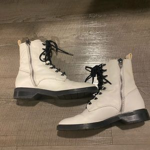 Dolce Vita White Combat Boots Size 7.5